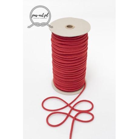 Sznurek bawełniany czerwony 100m z rdzeniem