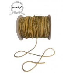 Sznurek bawełniany prążki zółty-zielony 100m 3mm