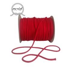 Sznurek bawełniany czerwony 100m 3mm