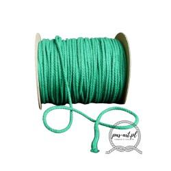 Sznurek bawełniany zielony 100m 3mm
