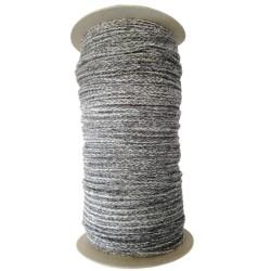 Sznurek bawełniany melanż odcienie szarości 100m z rdzeniem