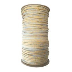 Sznurek bawełniany melanż -żółty/niebieski -100m z rdzeniem