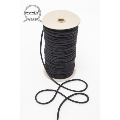 Sznurek bawełniany czarny 100m z rdzeniem